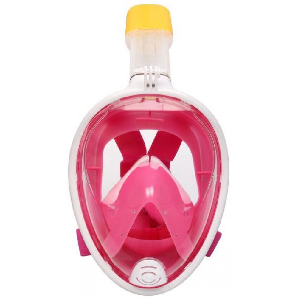Маска для снорклинга розовая