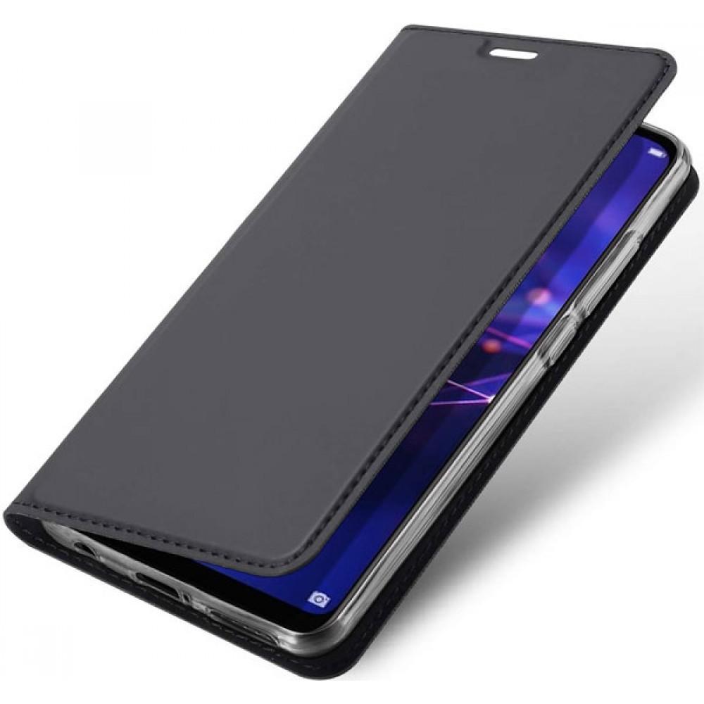 Чехол для Huawei Mate 20 Lite черный кожаный