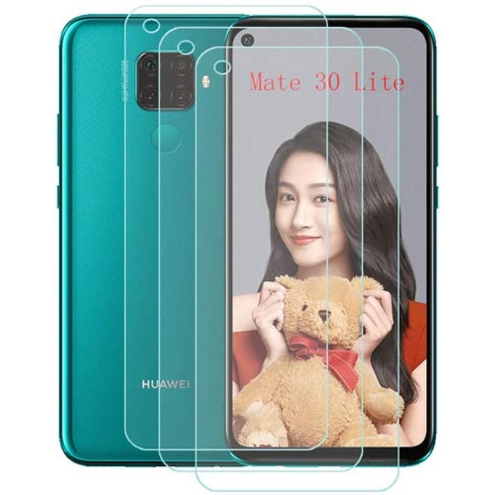 Стекло для Huawei Mate 30 Lite прозрачное с полной проклейкой