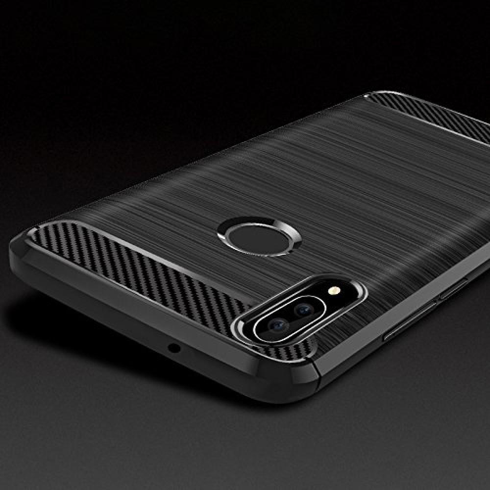 Чехол для Huawei P20 Lite, силиконовый бампер черный