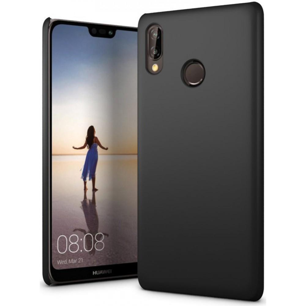 Чехол для Huawei P20 Lite полиуретановый черный
