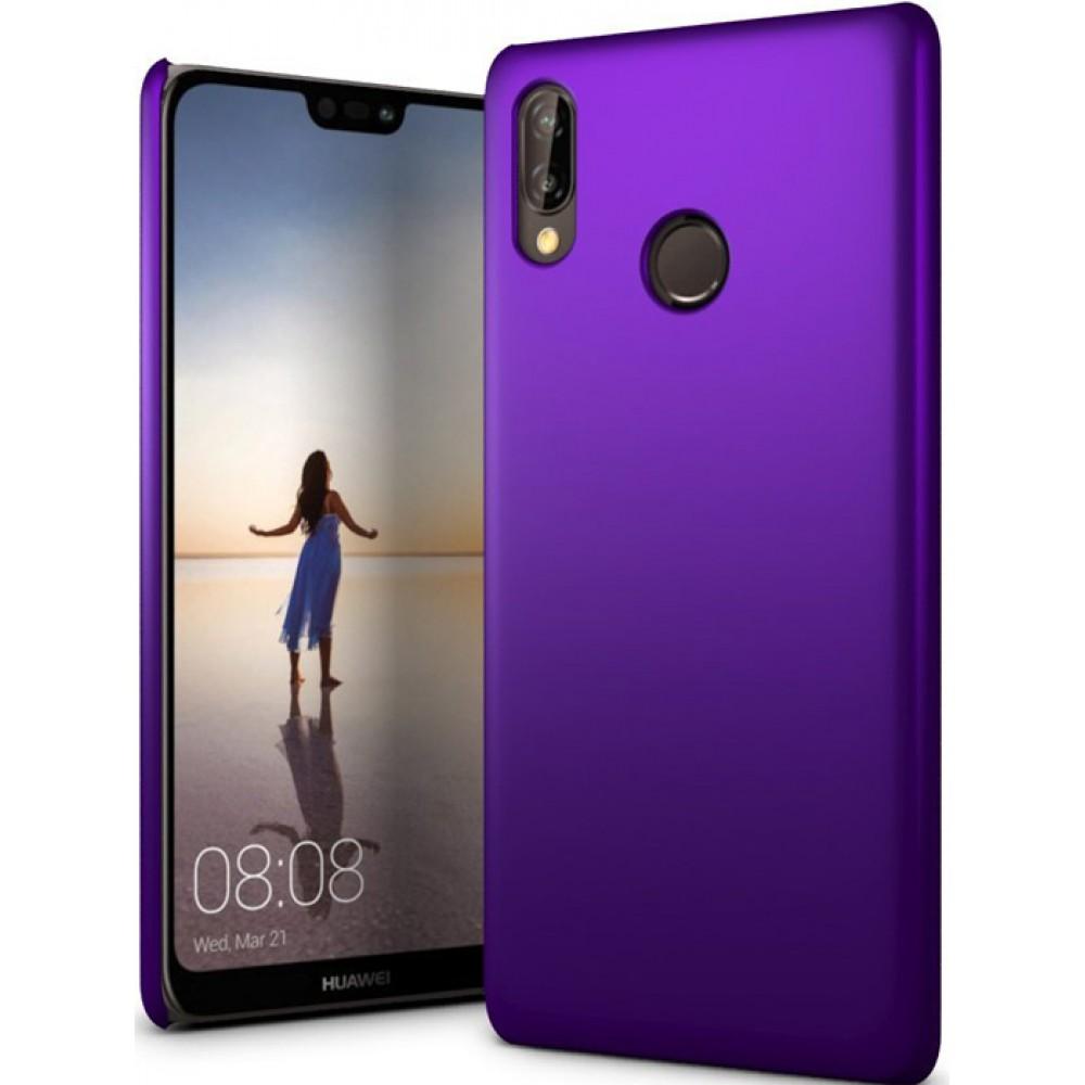 Чехол для Huawei P20 Lite полиуретановый фиолетовый