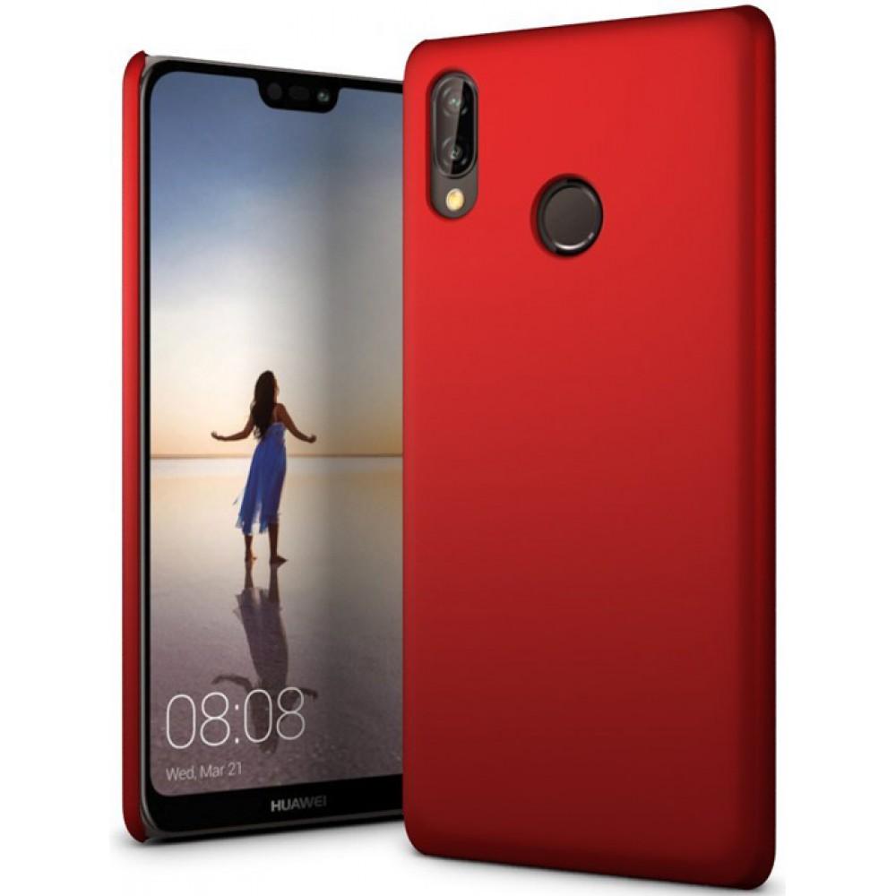 Чехол для Huawei P20 Lite полиуретановый красный