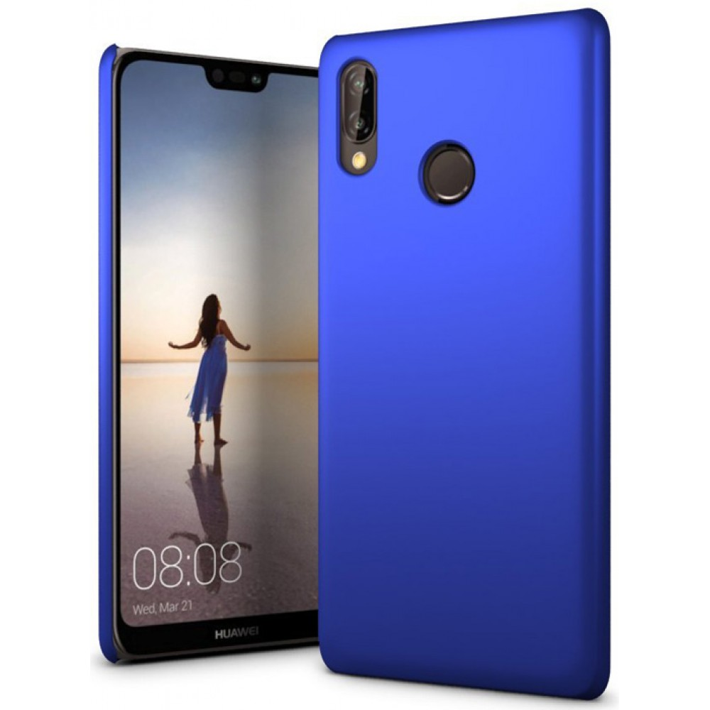 Чехол для Huawei P20 Lite полиуретановый синий