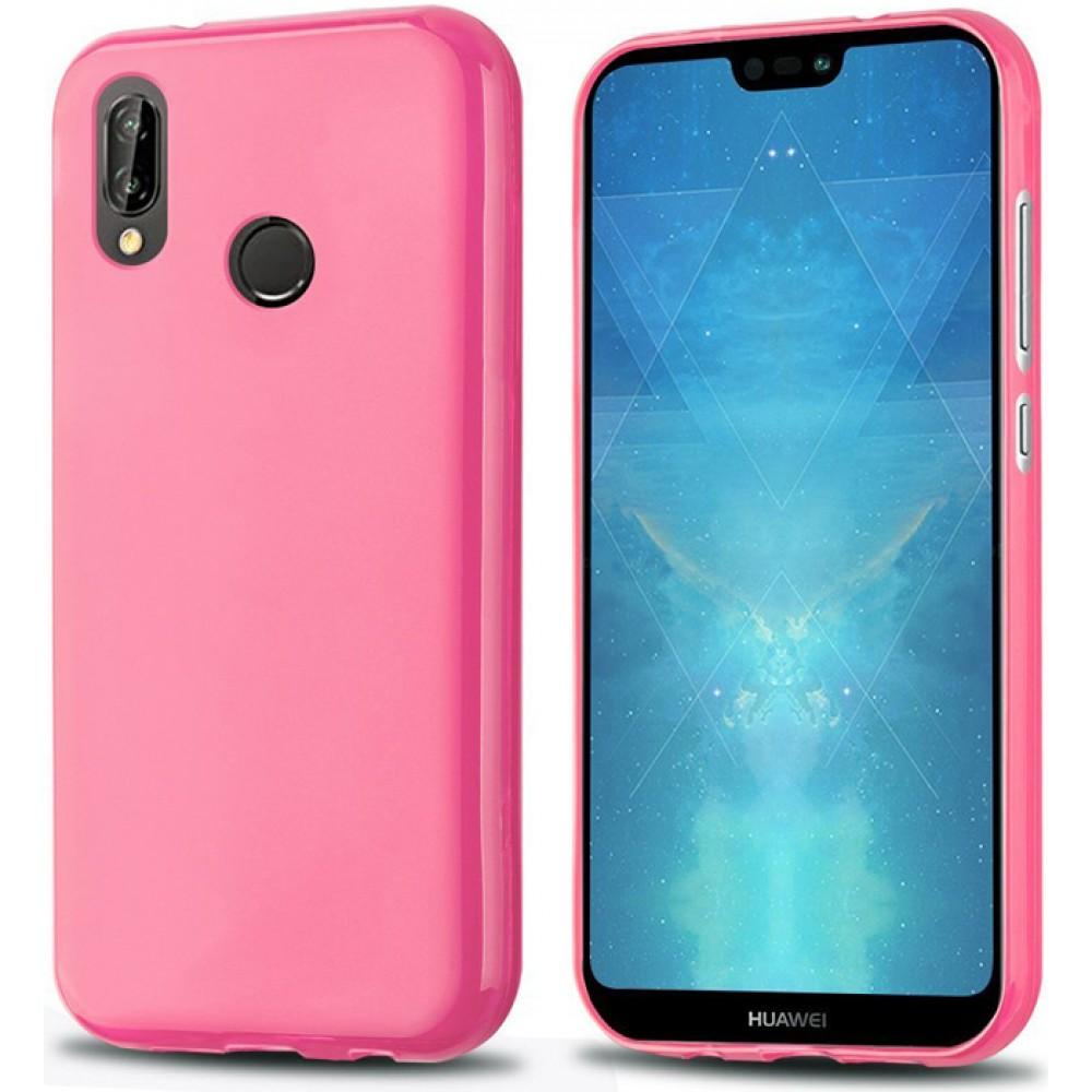 Чехол для Huawei P20 Lite силиконовый розовый
