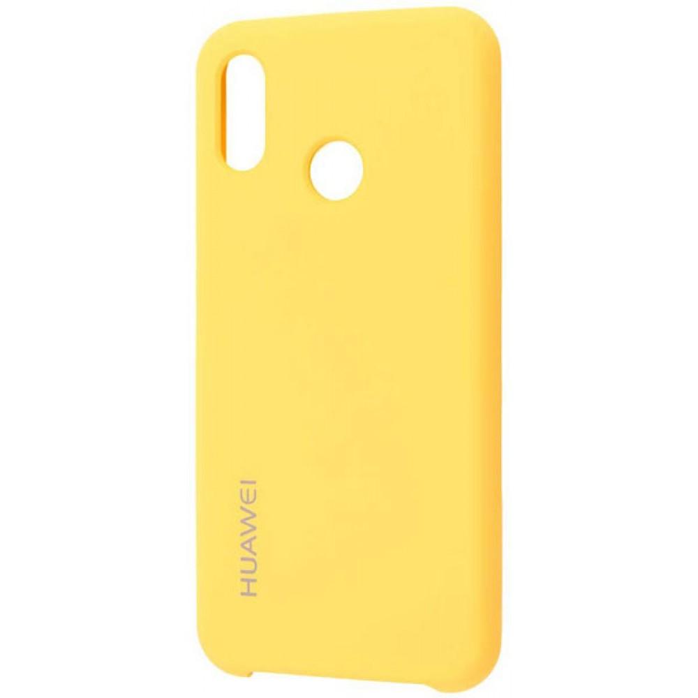 Чехол для Huawei P20 Lite Soft Touch желтый