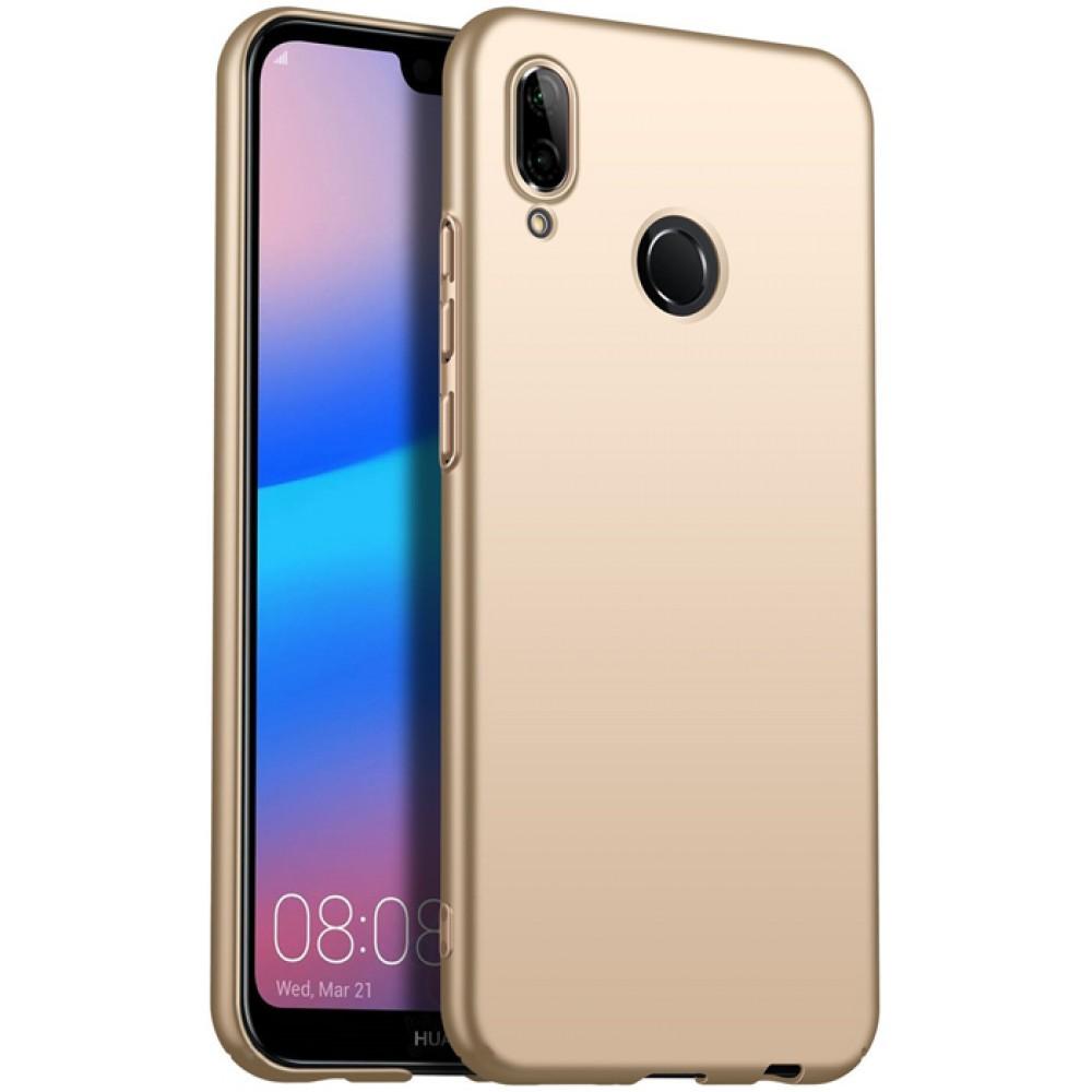 Чехол для Huawei P20 Lite золотой силиконовый