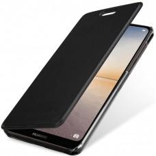 Чехол на Huawei P20 Lite кожаный черный
