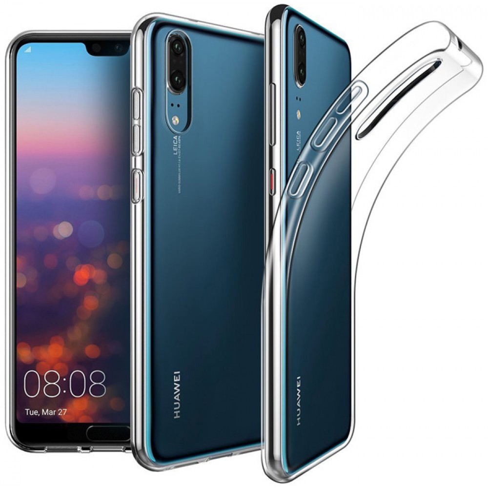 Чехол для Huawei P20 силиконовый прозрачный