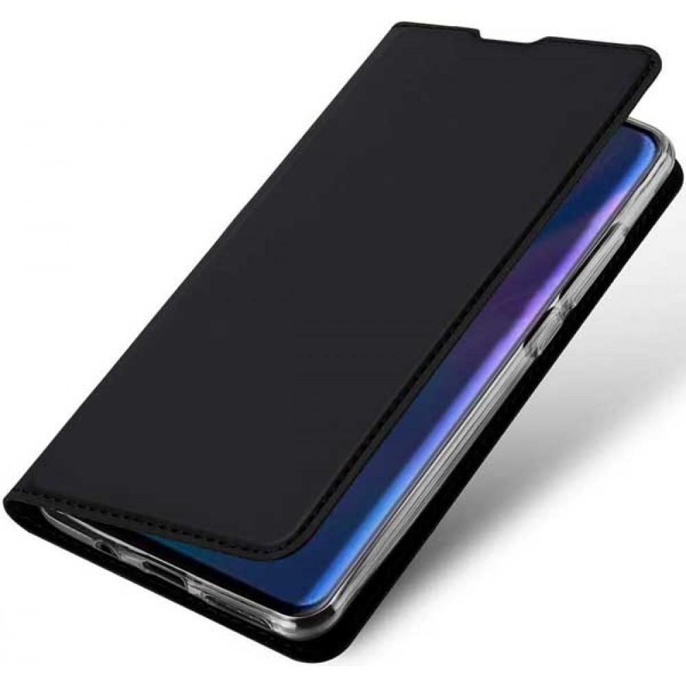 Чехол для Huawei P30 Lite черный кожаный