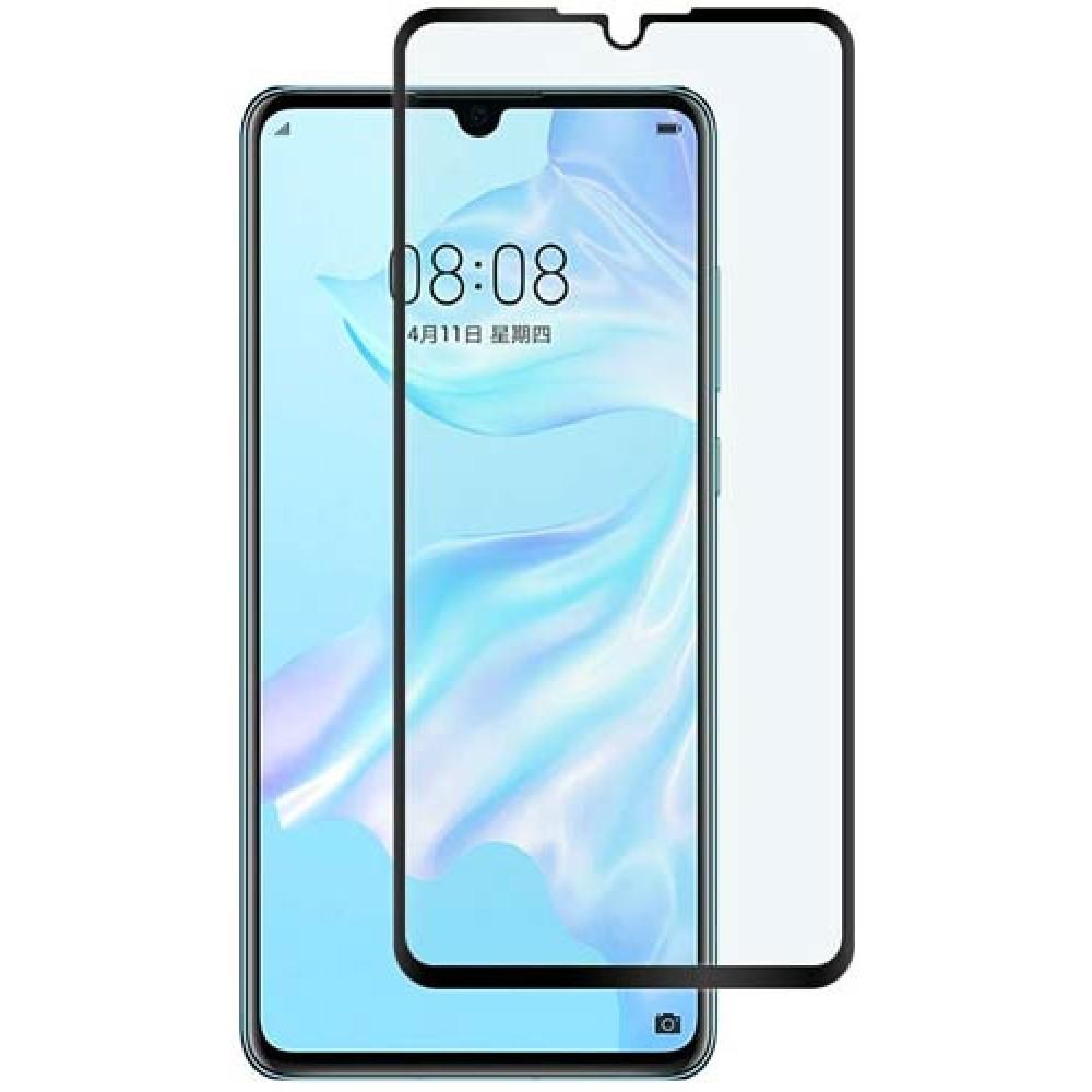 Стекло для Huawei P30 на весь экран с черной рамкой