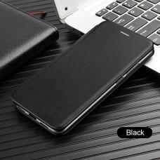 Чехол для Huawei P40 Lite кожаный черного цвета