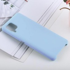 Чехол для Samsung Galaxy A22 4G Soft Touch голубой