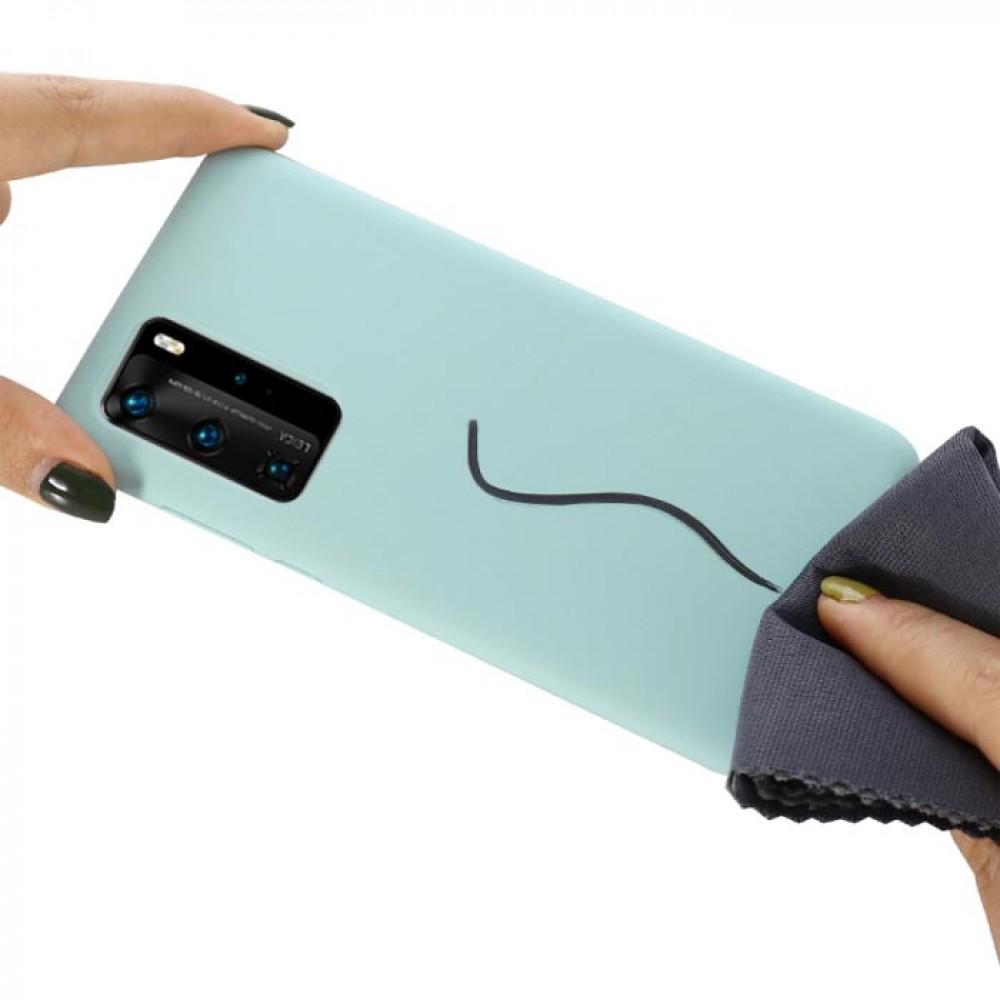 Чехол для Huawei P40 Soft Touch бирюзовый