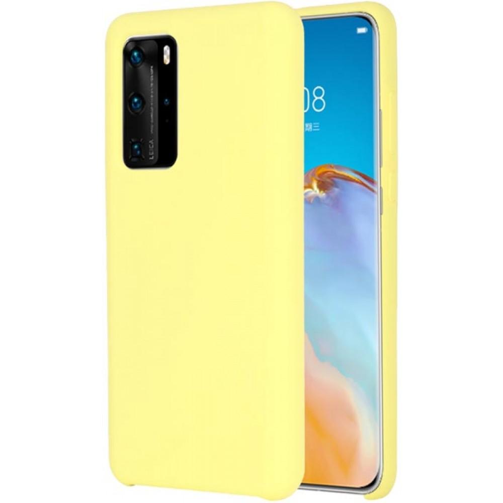 Чехол для Huawei P40 Soft Touch желтый