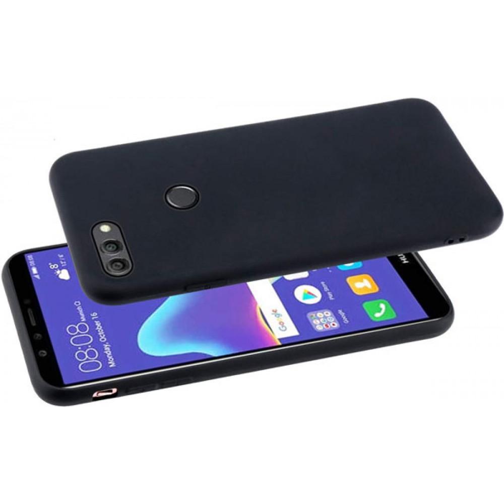 Чехол для Huawei Y9 2018 силиконовый черный