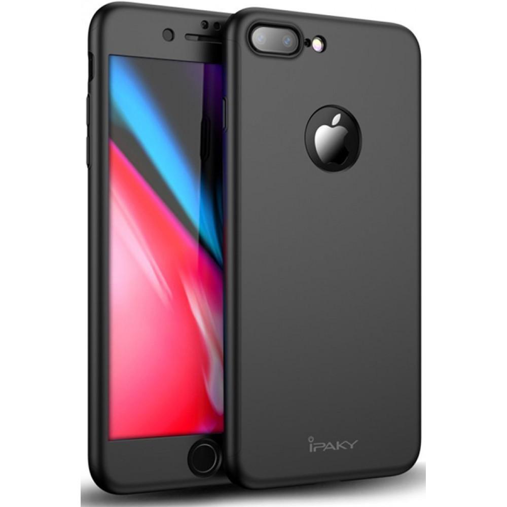 Чехол на iPhone 8 Plus черный iPaky защита 360