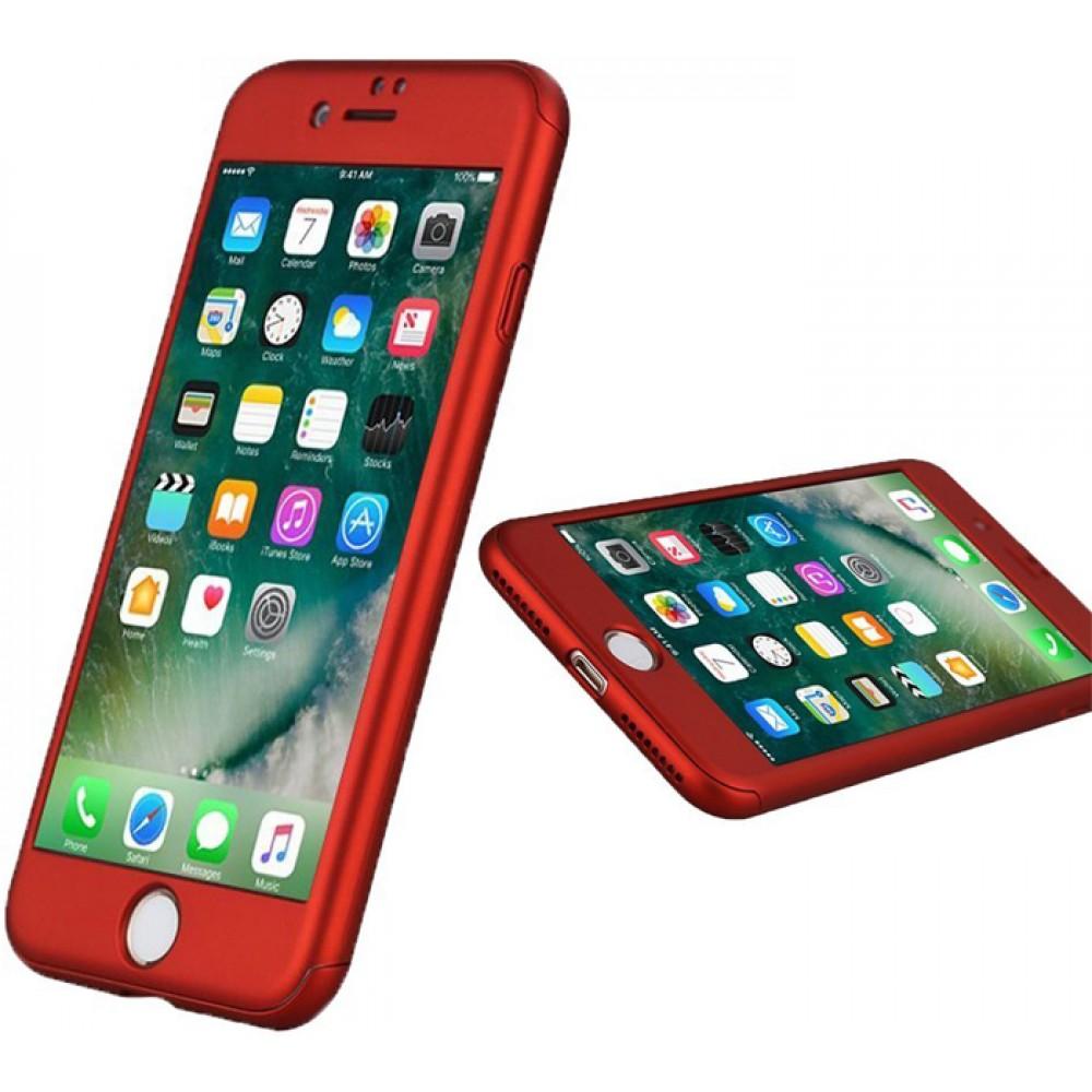 Чехол на iPhone 8 Plus красный iPaky защита 360