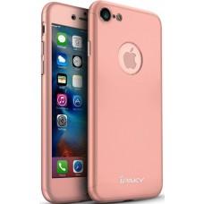 Чехол на iPhone 8 Plus розовый iPaky защита 360