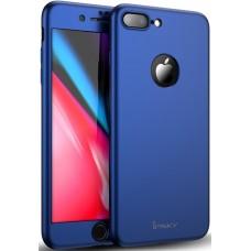 Чехол на iPhone 8 Plus синий iPaky защита 360