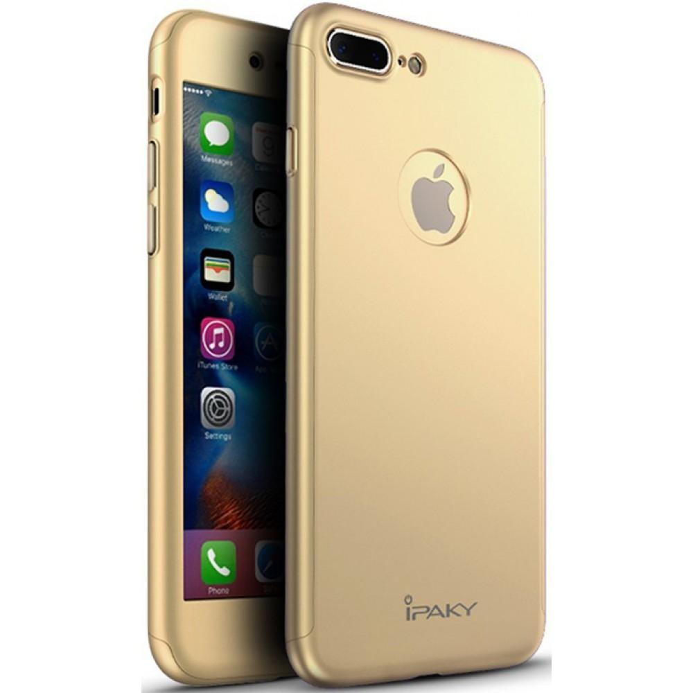 Чехол на iPhone 8 Plus золотой iPaky защита 360