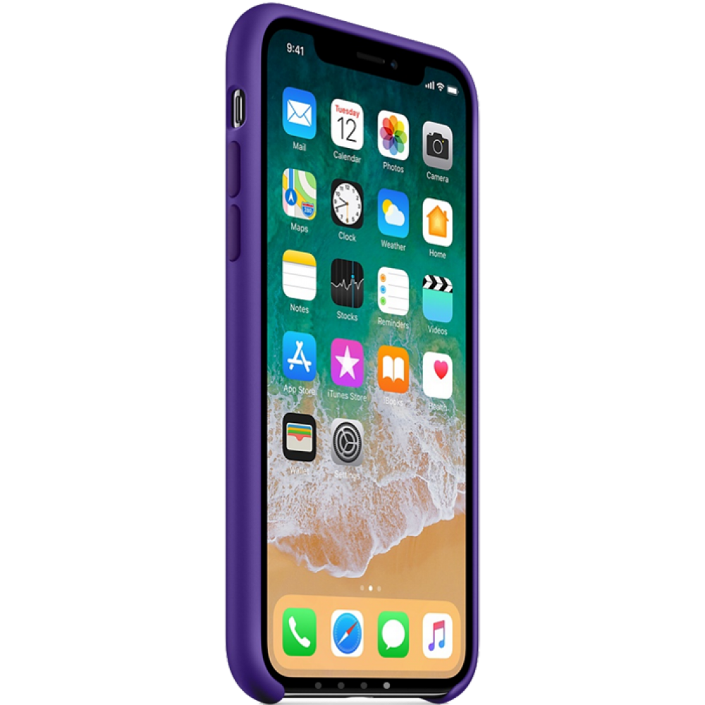 Чехол для iPhone X, цвет фиолетовый