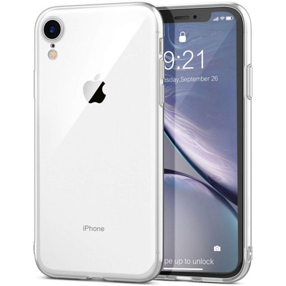 Чехол для iPhone XR силиконовый прозрачный