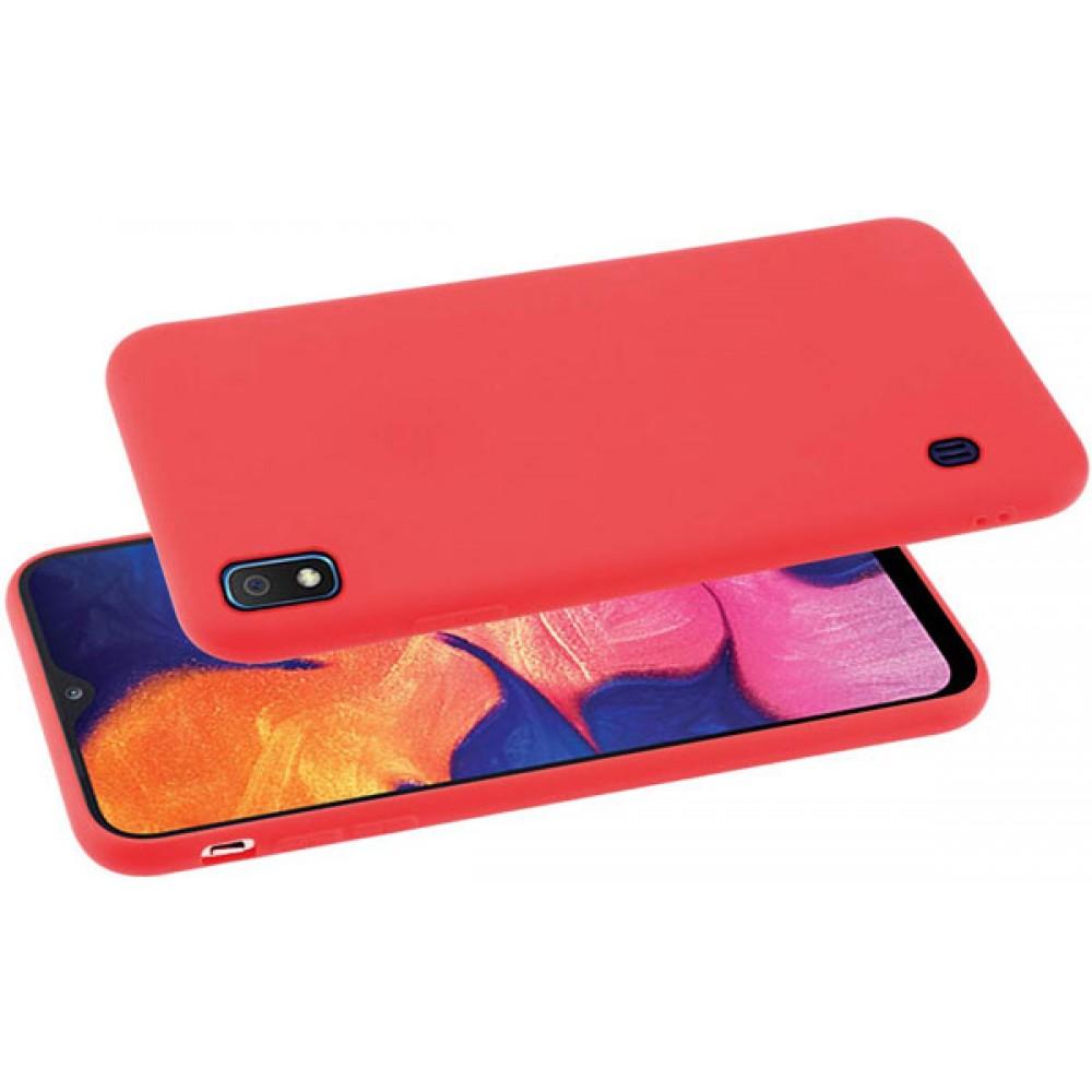 Чехол для Samsung Galaxy A10 красный силиконовый