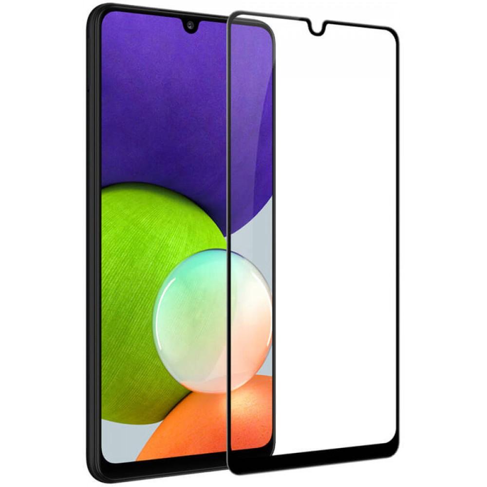 Стекло для Samsung Galaxy A22 4G с черной рамкой
