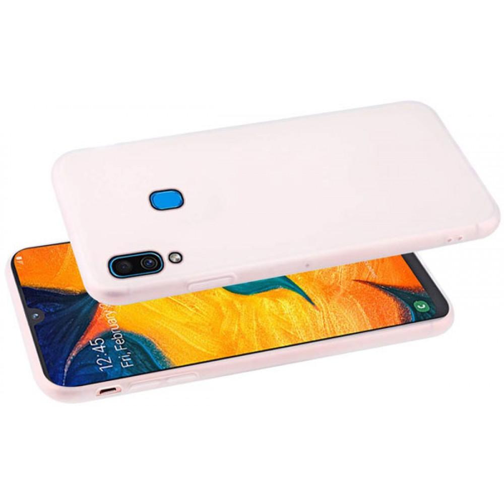 Чехол для Samsung Galaxy A30 белый силиконовый