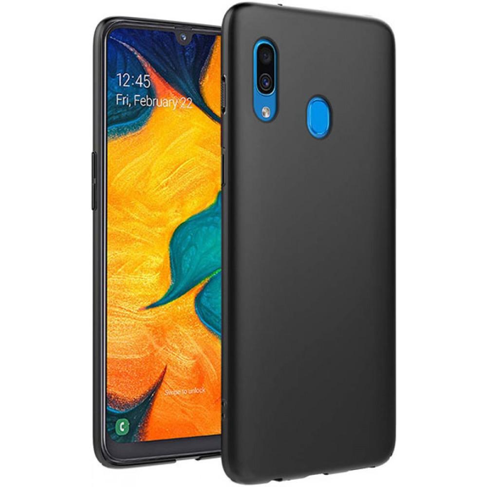 Чехол для Samsung Galaxy A20 черный силиконовый