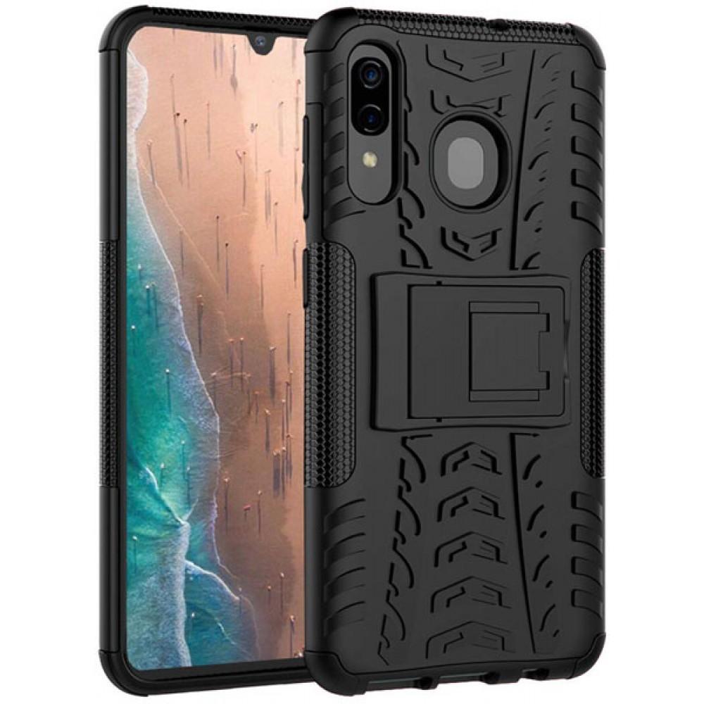 Чехол для Samsung Galaxy A30 противоударный черный