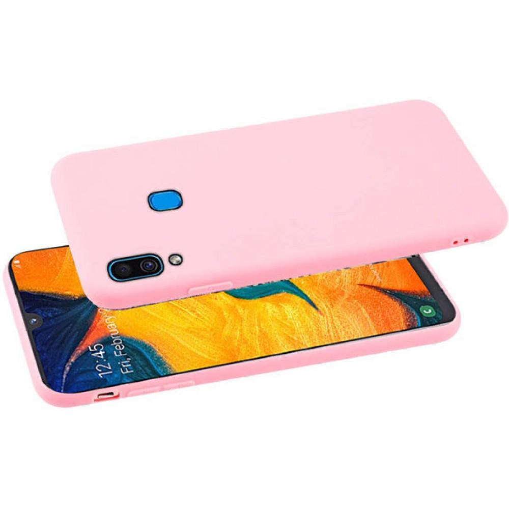 Чехол для Samsung Galaxy A20 розовый силиконовый
