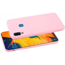 Чехол для Samsung Galaxy A30 розовый силиконовый