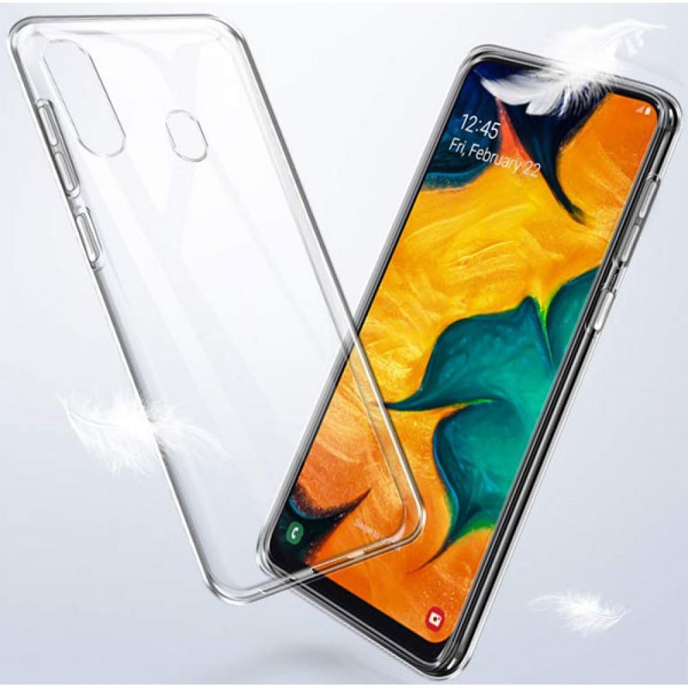 Чехол для Samsung Galaxy A20 силиконовый прозрачный