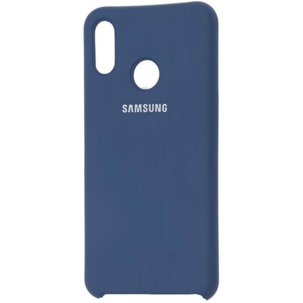 Чехол для Samsung Galaxy A30 Soft Touch темно-синий