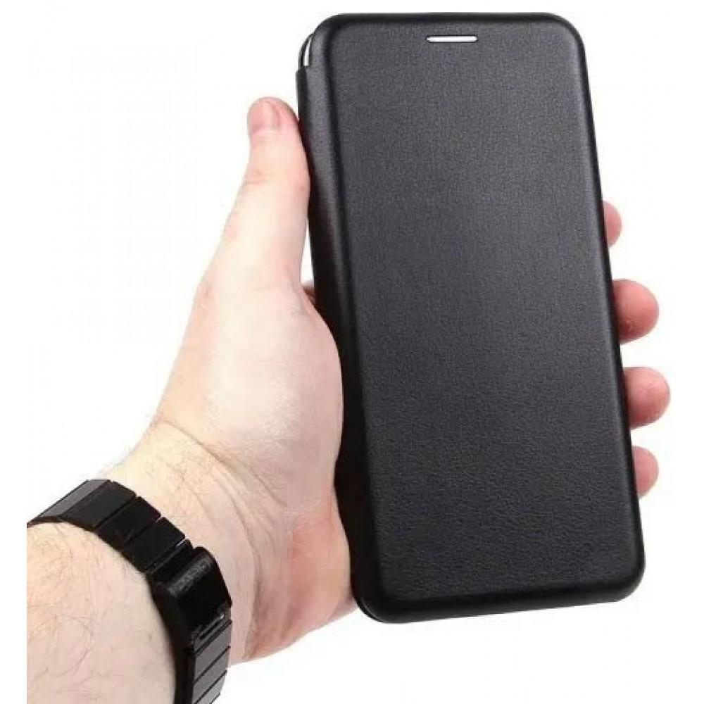 Чехол для Xiaomi Mi 11 Lite 4G кожаный черный