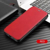 Чехол для Xiaomi Redmi Note 10 Pro кожаный красный
