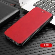 Чехол для Samsung Galaxy A31 кожаный красного цвета