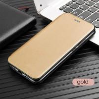 Чехол для Samsung Galaxy M51 кожаный золотистого цвета