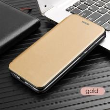 Чехол для Samsung Galaxy A31 кожаный золотистого цвета