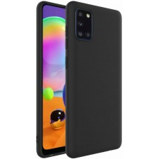 Чехол для Samsung Galaxy A31 силиконовый черный цвет