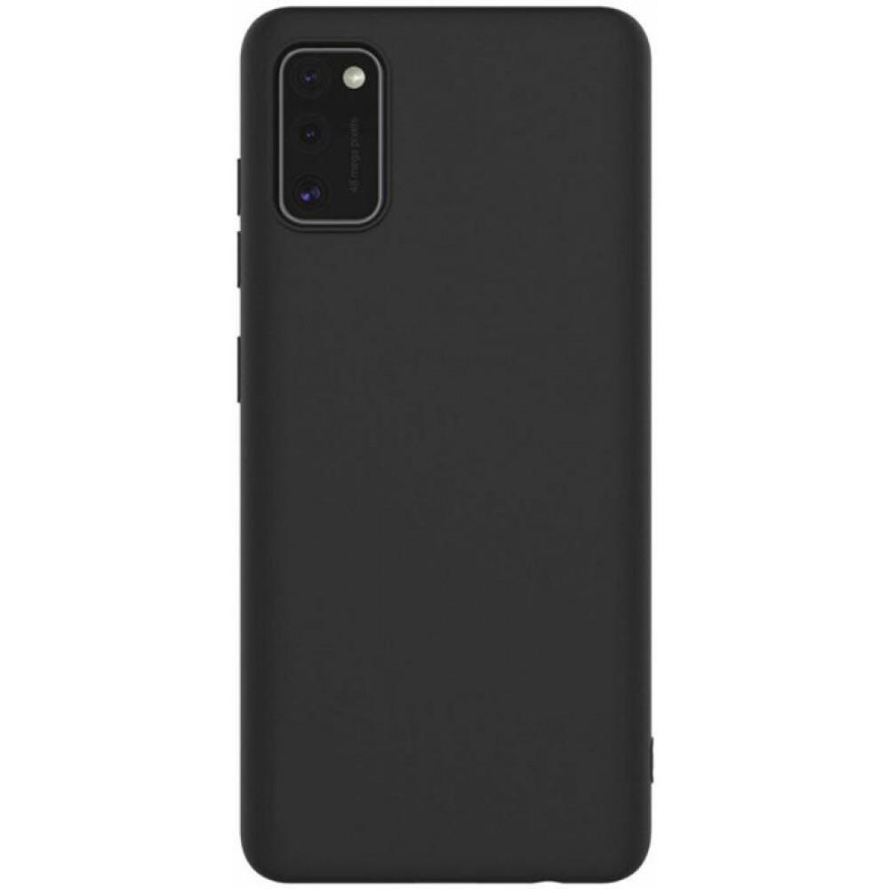 Чехол для Samsung Galaxy A41 силиконовый черный