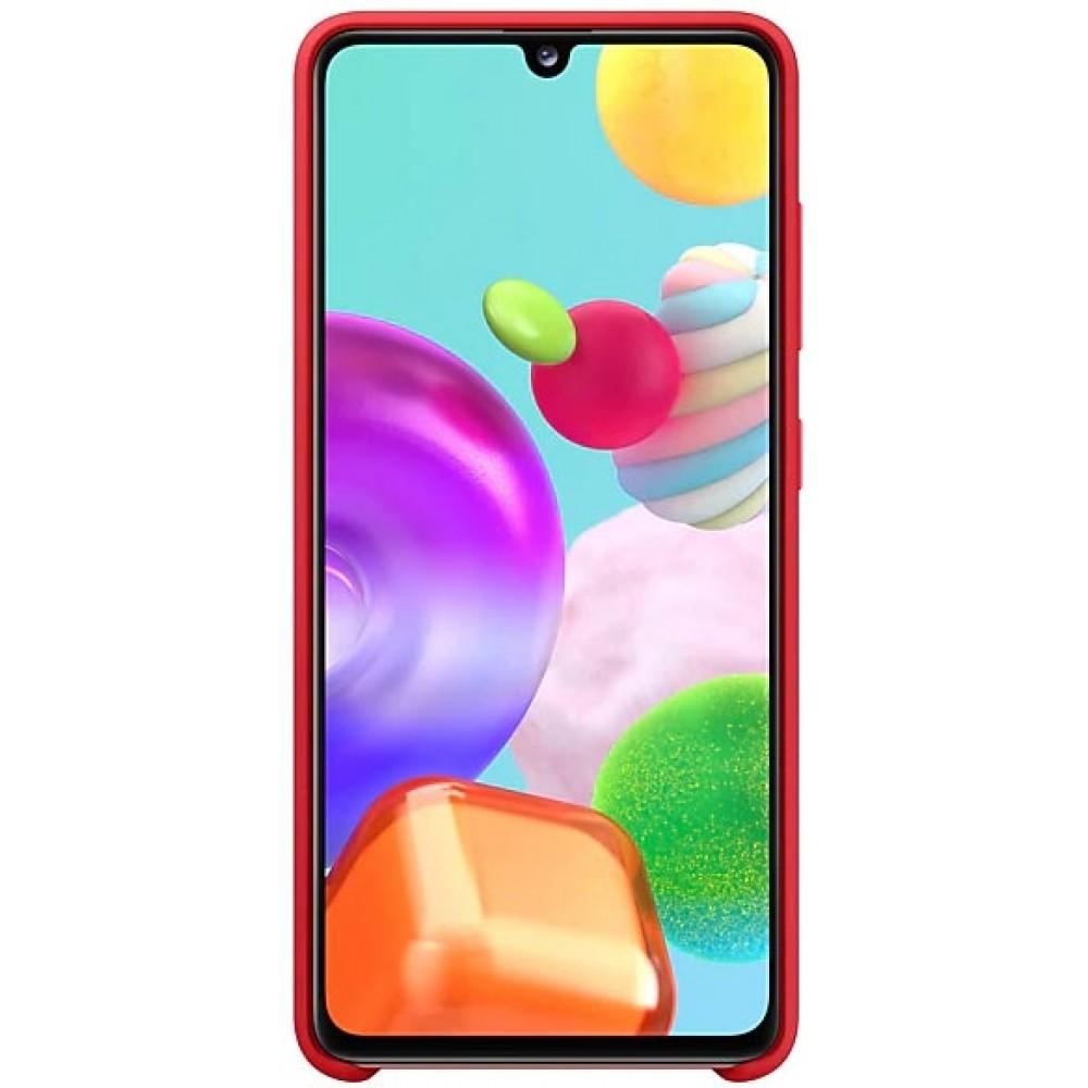 Чехол для Samsung Galaxy A41 Soft Touch красный