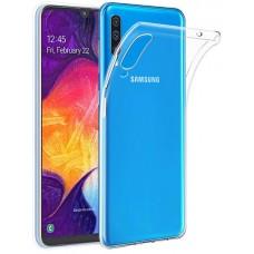 Чехол для Samsung Galaxy A30s, Силиконовый бампер прозрачный