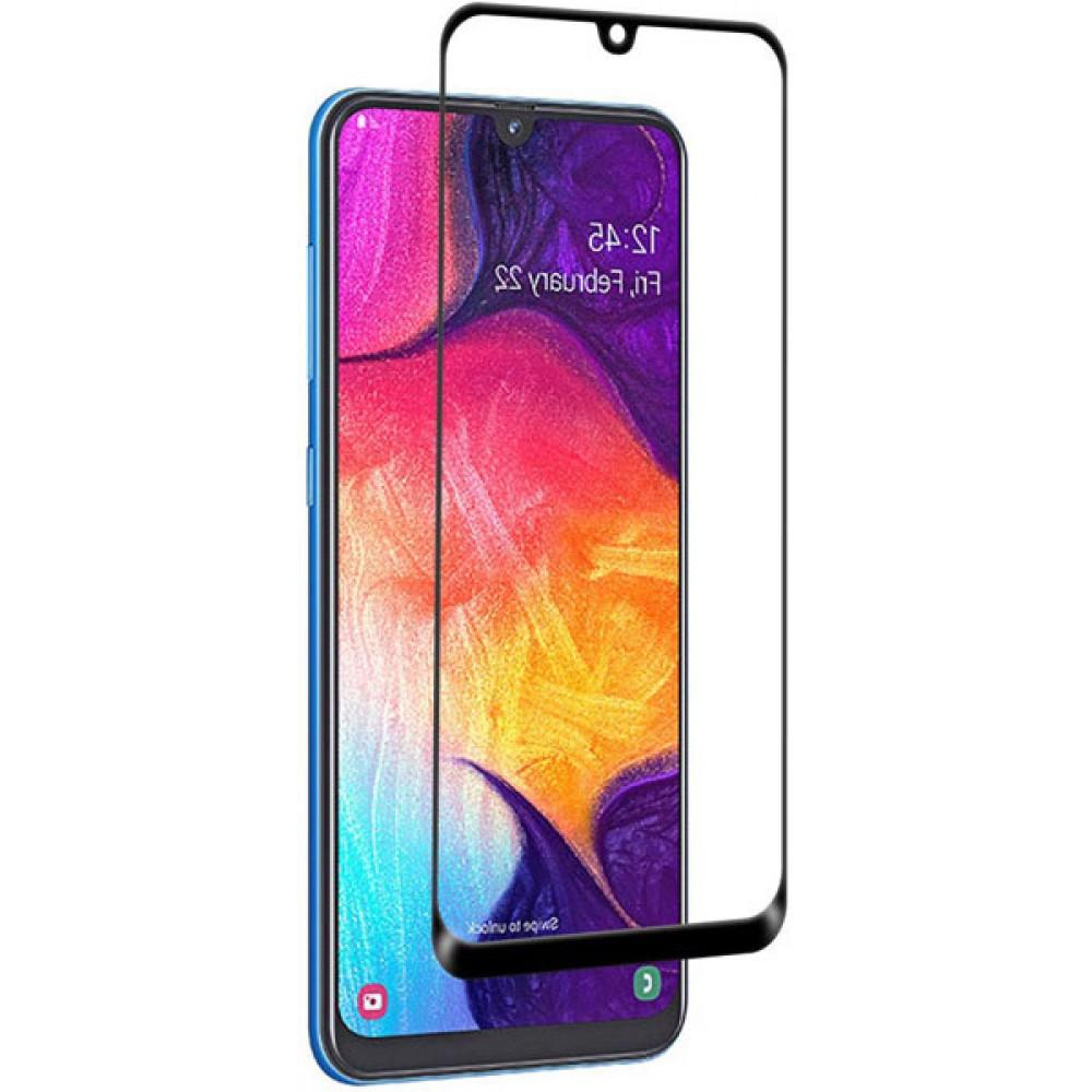 Стекло для Samsung Galaxy A50 с рамкой на весь экран