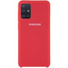 Чехол для Samsung Galaxy A31 Soft Touch красный