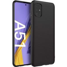 Чехол для Samsung Galaxy A51 черный силиконовый