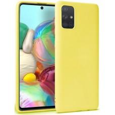 Чехол для Samsung Galaxy A51 цвет желтый силиконовый