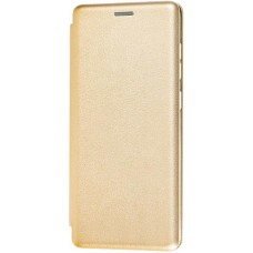 Чехол для Samsung Galaxy A51 кожаный золотой
